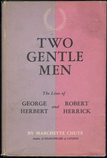 Two Gentle Men by Marchette Chute 1959 1st edition DJ