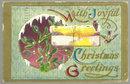 Joyful Christmas Greetings Postcard with Birds in Snow
