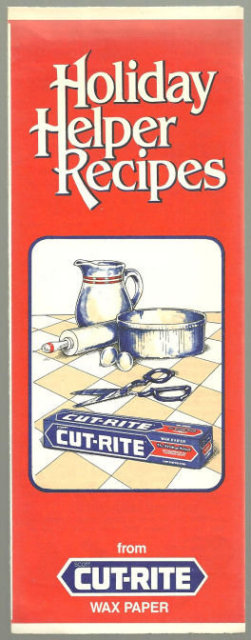 Holiday Helper Recipes with Cut-Rite Wax Paper 1982
