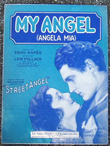 My Angel (Angela Mia) Starring Janet Gaynor 1928 Music