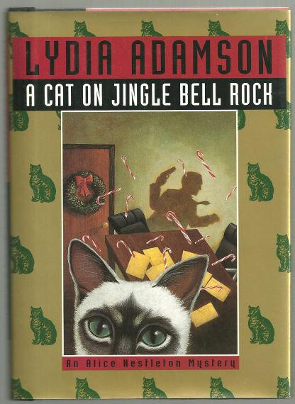 Cat on Jingle Bell Rock by Lydia Adamson 1997 1st ed DJ