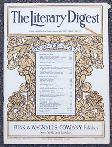 Literary Digest Magazine December 7, 1907 Alabama