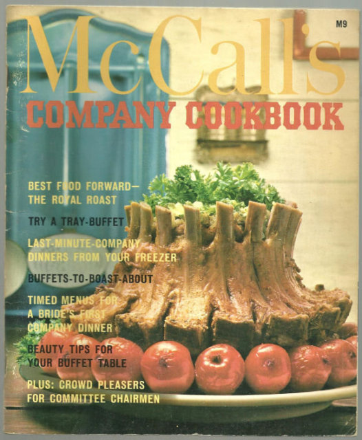 McCall's Book of Company Cookbook 1965 Illustrated