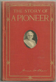Story of a Pioneer by Anna Howard Shaw 1915 1st edition