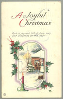 A Joyful Christmas With Pilgrims and Snowy House 1920