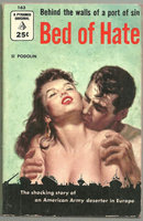 Bed of Hate by Si Podolin 1955 Vintage Paperback