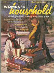 Women's Household Magazine December 1975 Calico Holiday
