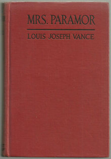Mrs. Paramor by Louis Joseph Vance 1924 Romance