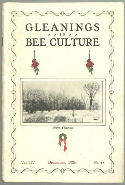 Gleanings in Bee Culture December 1926 Australia
