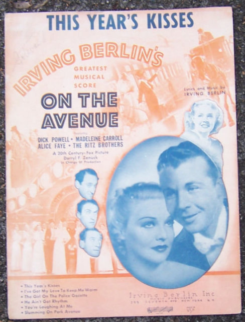This Year's Kisses From On the Avenue by Irving Berlin