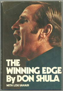 Winning Edge by Don Shula 1973 1st edition DJ