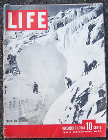 Life Magazine December 31, 1945 Mountain Climbing