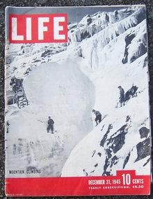 Life Magazine December 31, 1945 Mountain Climbing