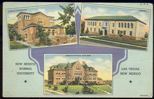 Postcard of New Mexico Normal University Las Vegas 1945