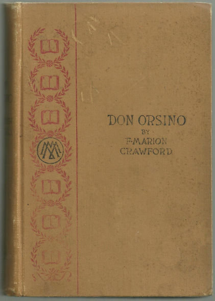 Don Orsino by F. Marion Crawford 1892 Fiction