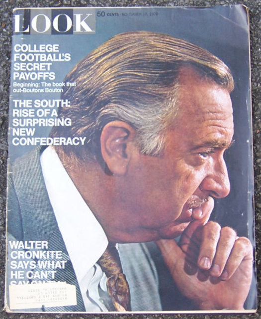 Look Magazine November 17, 1970 Walter Cronkite Cover