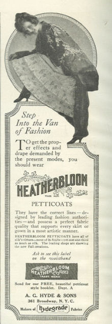 Heatherbloom Petticoats Latest Fashion 1916 Magazine Ad