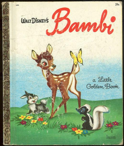 Walt Disney's Bambi by Felix Salten Little Golden Book