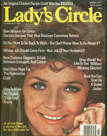 Lady's Circle Magazine March 1977 Polly Bergen on Cover