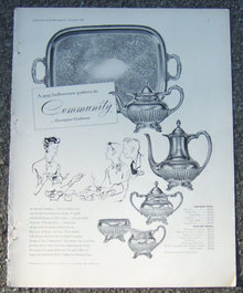 Community Georgian Gadroon Hollowware 1953 Magazine Ad