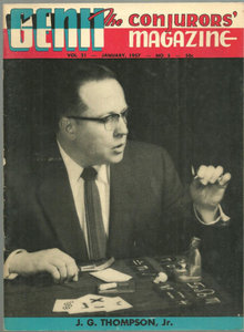 Genii Magazine January 1957 J. G. Thompson, Jr Cover