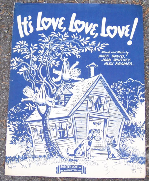 It's Love, Love, Love 1943 Vintage Sheet Music