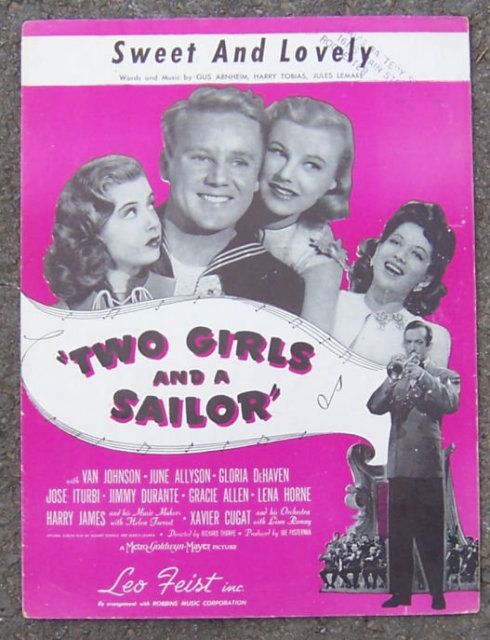 Sweet and Lovely from Two Girls and a Sailor 1931 Music