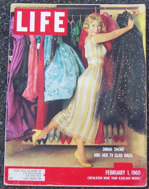 Life Magazine February 1, 1960 Dinah Shore on cover