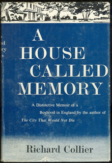 House Called Memory A Boyhood in England 1961 1st ed DJ