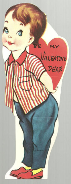 Vintage Valentine of Little Girl Be My Valentine Dear