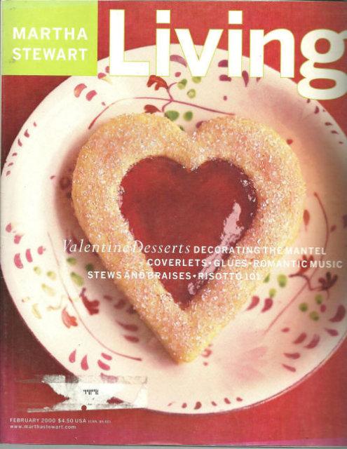 Martha Stewart Living February 2000 Valentine Desserts