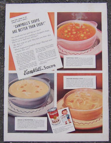 1941 Campbell's Soups Magazine Advertisement