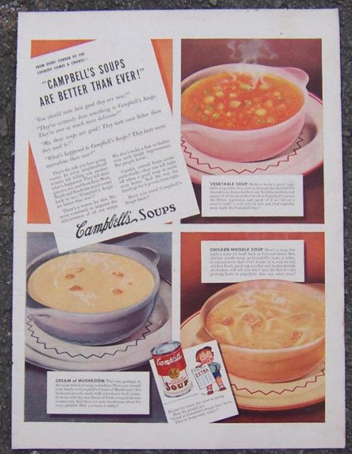 1941 Campbell's Soups Magazine Advertisement