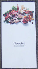 Vintage Menu From Novotel Rest Saarbrucken Germany