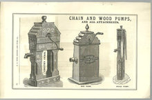 Antique Print From 1879 Halladay Catalogue Chain Pumps