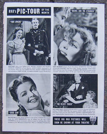 1948 RKO's Pic-Tour of the Month Life Magazine Ad