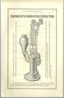 Antique Print From 1879 Halladay Catalog Railway Pump