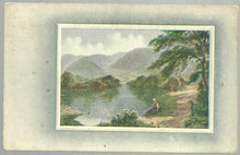 Pastoral Scene with Little Boy Sitting at Lake 1910