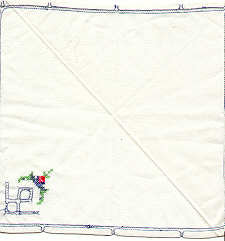 Vinatge White Hanky with Cross Stitch and Cut Work