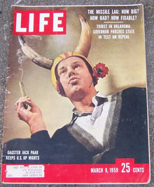 Life Magazine March 9, 1959 Jack Paar on Cover