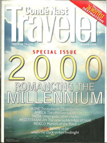 Conde Nast Traveler Magazine March 1999 The Millenium