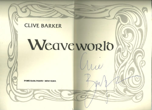 Weaveworld Signed by Clive Baker 1987 Advanced Review
