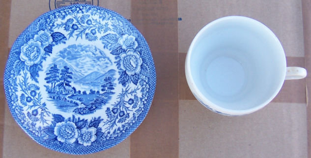 Lochs of Scotland Blue/White Loch Duich Cup and Saucer