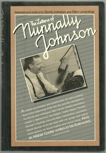 Letters of Nunnally Johnson 1981 1st edition with DJ