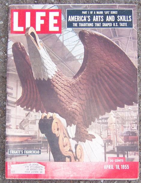 Life Magazine April 18, 1955 Frigate's Figurehead Cover
