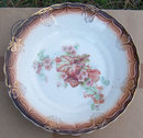 Lamberton China Brown Bowl with Begonias in Center