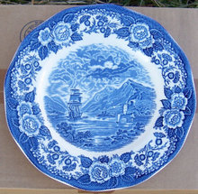 Lochs of Scotland Blue and White Loch Och Dinner Plate