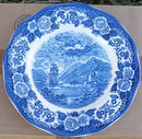 Lochs of Scotland Blue and White Loch Oich Dinner Plate