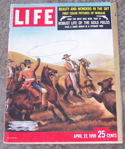 Life Magazine April 27, 1959 California Bear Hunt Cover