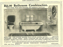 Bathroom Combination 1904 Cosmopiltan Advertisement